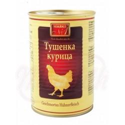 Carne de pollo estofada 400g.