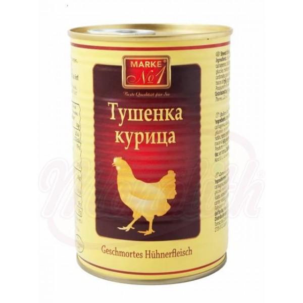 Carne de pollo estofada 400g. - Polonia