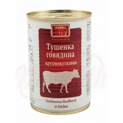 Ternera estofada en trozos Tushenka 400g.