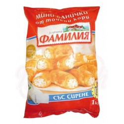 Rollitos de hojaldre con queso Banisa 1kg