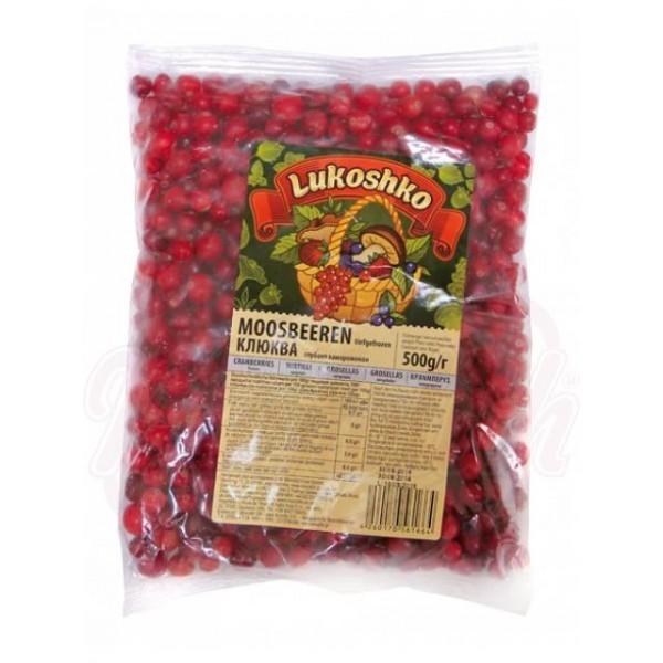 Bayas rojas congeladas Klukva 500g - Frutas