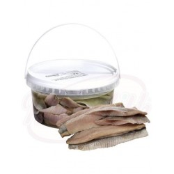 Filetes de arenque salados sin piel en aceite 2.8kg