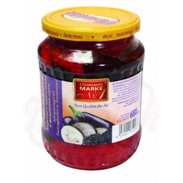 Салат из баклажан с черносливом в томатном соусе  680 g - Украина