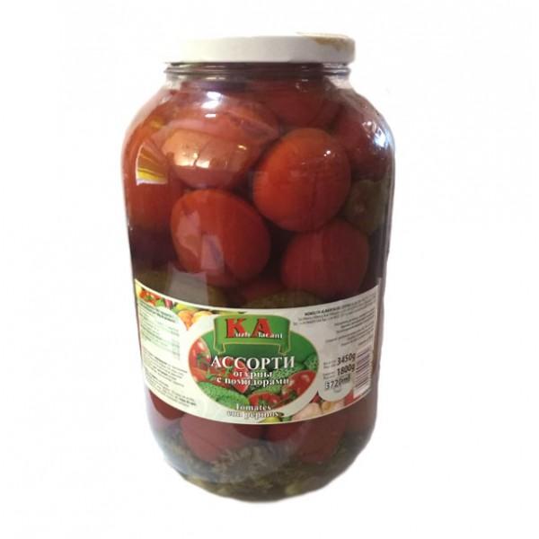 Ассорти огурцы с помидорами 3450 g - Польша