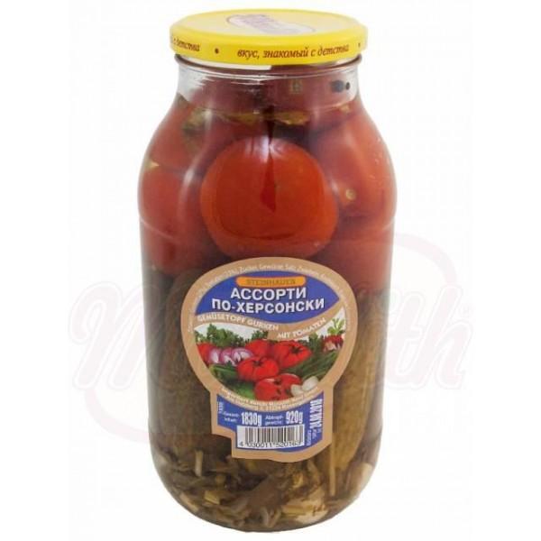 Ассорти томаты и огурцы По-Херсонски Штейнхауер 1830 g - Германия