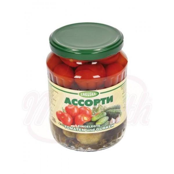 Tomates y pepinos encurtidos 680 g - Hungria