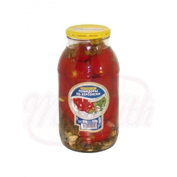 Tomates en vinagre Po-Jersonski 1850 g - Ucrania
