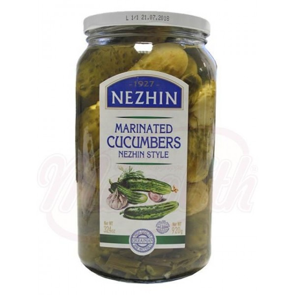 Pepinos marinados Po Nezhinski 920g - Ucrania