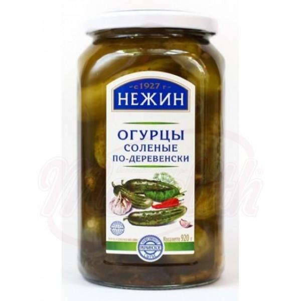 Pepinos salados Po Derevenski Nezhin  920 g - Ucrania