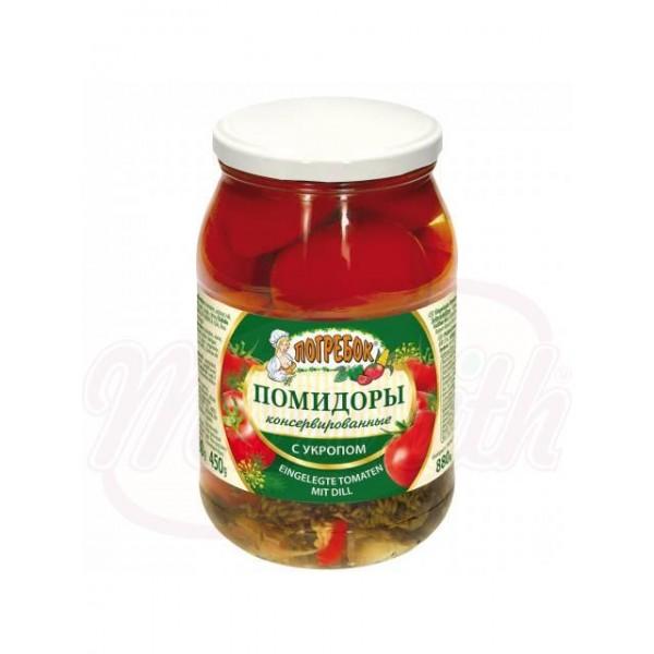 Tomates en vinagre con eneldo 880g. - Polonia