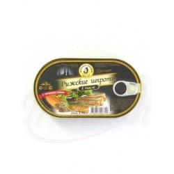 Рижские шпроты в масле с пряностями 190 ml