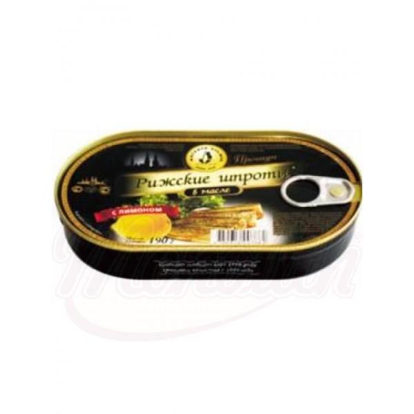 Рижские шпроты в масле с лимоном 190 ml - Латвия