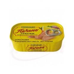 Печень трески натуральная с лимоном 120г.