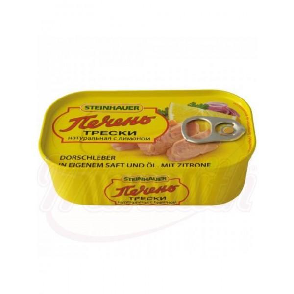 Печень трески натуральная с лимоном 120г. - Исландия