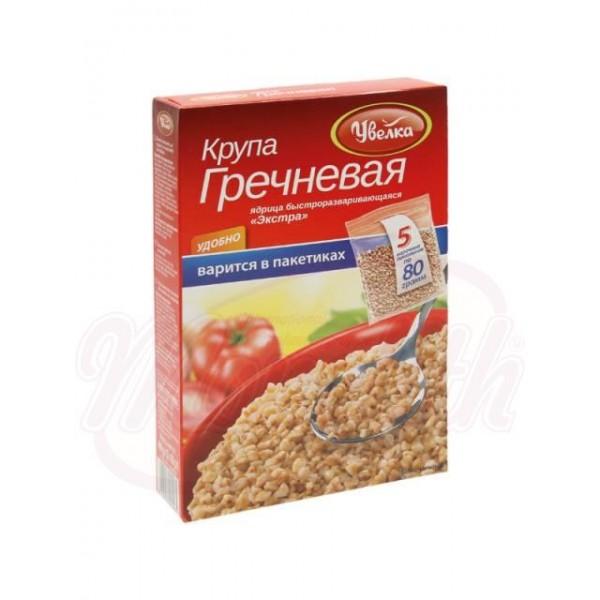 Alforfón de rápida preparación, en bolsas de cocción Uvelka  400 g - Rusia