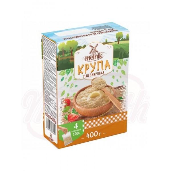Крупа пшеничая в пакетиках  Деревенская Мельница 4*100 г - Литва