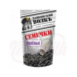 Семечки Тамбовский волкъ   черные жареные, солёные 200 g