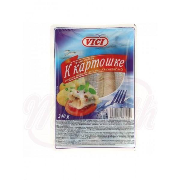 Arenque marinado  K kartoschke en aceite  240 g - Otros perecederos