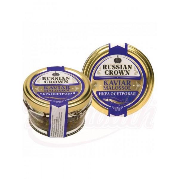 Caviar negro de esturion Russian Crown 50g - Huevas