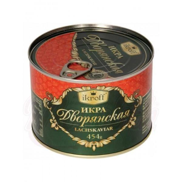 Caviar de salmon rojo Dvoranskaya 454g - Huevas