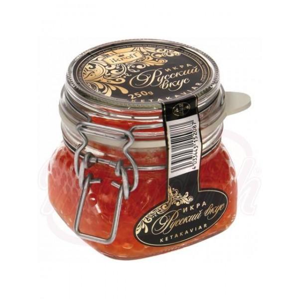 Caviar de salmon rojo Russkiy Vkus 250g - Huevas