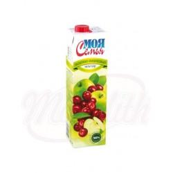 Refresco de manzana-cereza de concentrado Moja semja  0,95 L