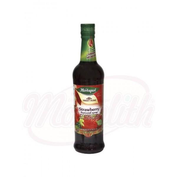 Sirope de fresa Herbapol 420 ml - Polonia