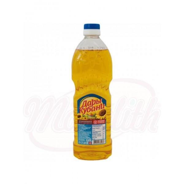 Aceite de girasol Dari Kubani sin refinar 650 ml - Rusia