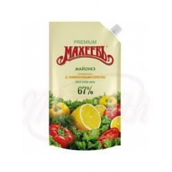 Mayonesa con el concentrado de jugo de limón (0,2%), 67% 400 ml