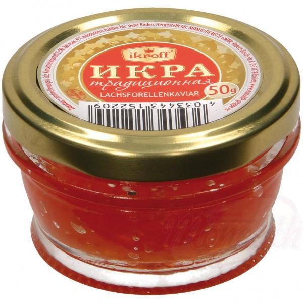 "Caviar de trucha asalmonada ""Tradicional"" (Ikroff) 50g - Huevas"