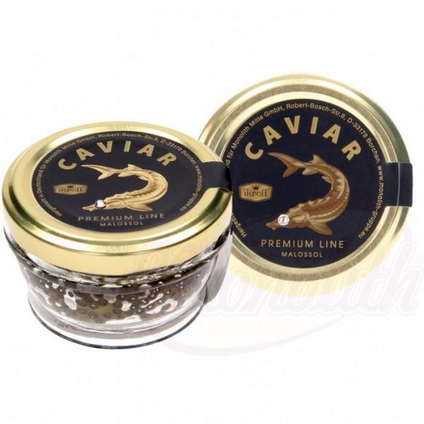 """Caviar de esturión Premium Line """"Ikroff"""" 50g - Huevas"""