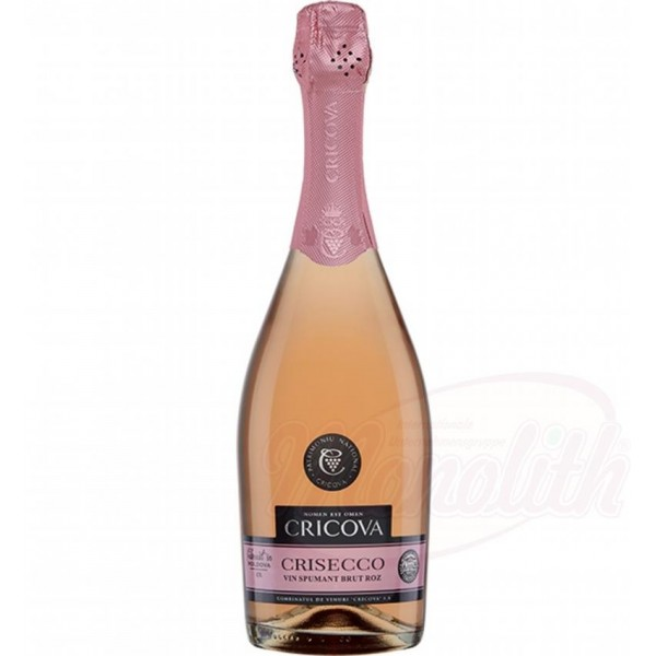 "Champán rosado brut Crisecco ""Cricova"" 12,5  alc. 0.75L - Moldavia"