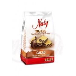 Rollos de barquillo con cacao Naty 180g
