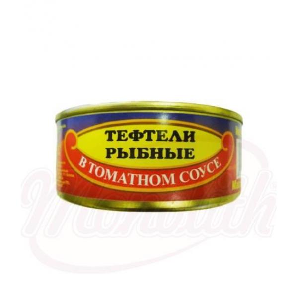 Рыбные тефтели в томатном соусе 240g - Латвия
