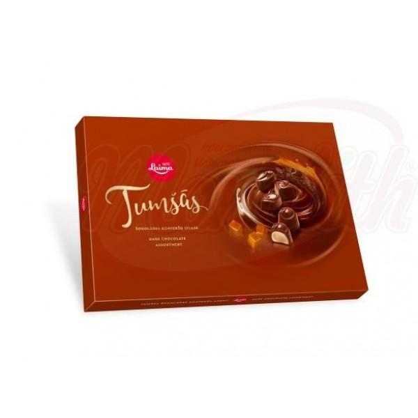 Surtido bombones en chocolate negro Tumsas