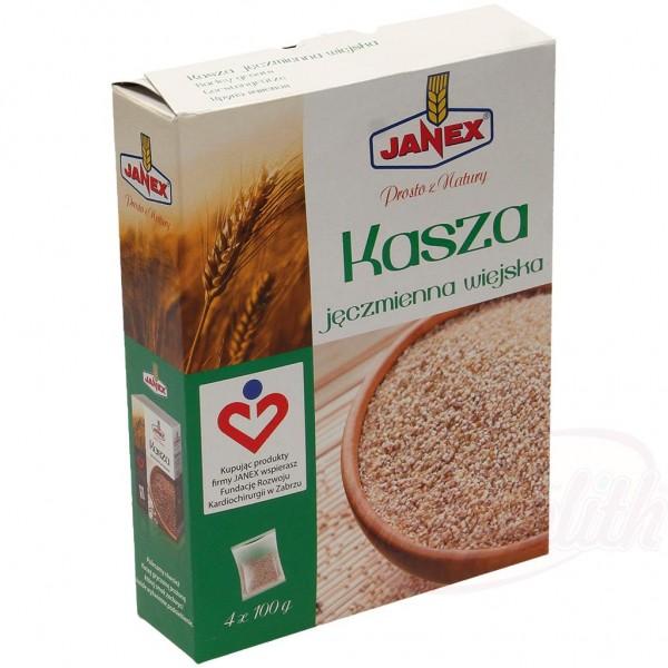 """Cebada mondada en bolsas de cocción """"Janex"""" 4 x 100 g - Polonia"""