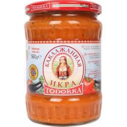 "Pure de berenjenas búlgara sin conservantes ""Todorka Deroni"" 560ml"