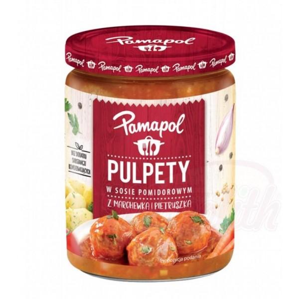 """Albóndigas polacas en salsa de tomate """"PAMAPOL"""" 500g - Polonia"""