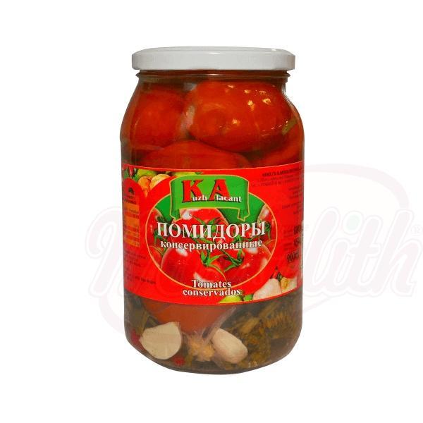 """Tomates conservados en vinagre """"Kuzh Alacant"""" 900g - Rusia"""