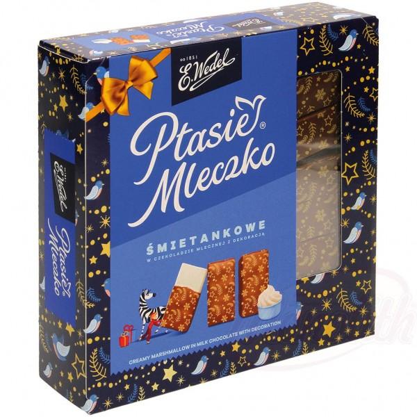 """Malvavisco polaco cremoso en chocolate con leche """"Ptasie Mleczko"""" 360g"""