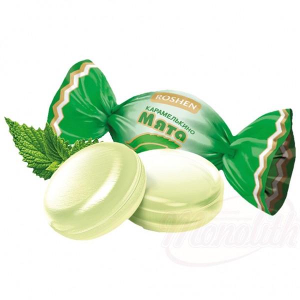 """Caramelo con sabor a menta """"Karamelkino Myata"""" 100g - Ucrania"""