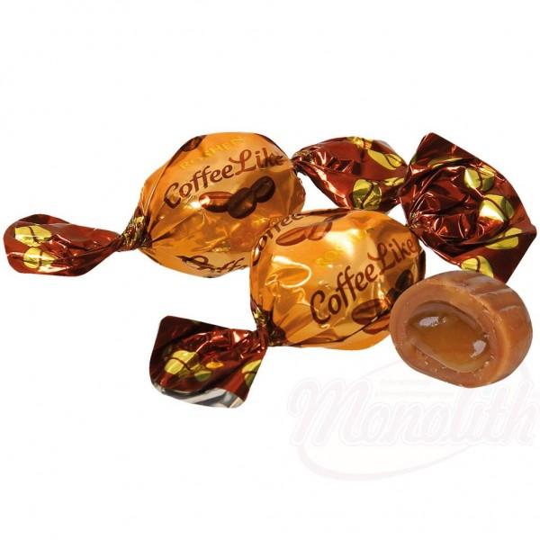 """Caramelos """"COFFEELIKE"""" con relleno con sabor a leche y café 100g - Ucrania"""