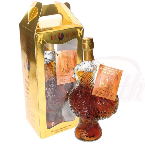 """Brandy armenio """"Gallo"""" 40 alc. 0,5 L en caja de regalo - Armenia"""