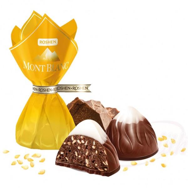 """Bombones """"Mont Blanc"""" con semillas de sésamo y chocolate 100g - Ucrania"""