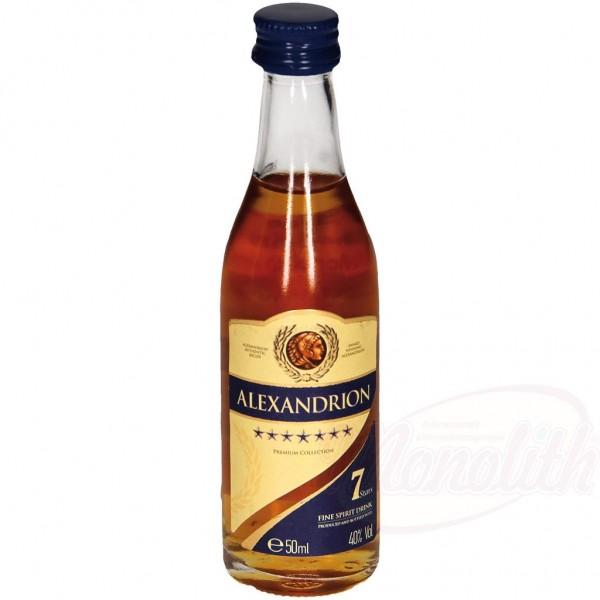"""Cognac rumano """"Alexandrion"""" 7 estrellas 40 vol. 50 ml - Otras Bebidas Alcohólicas"""