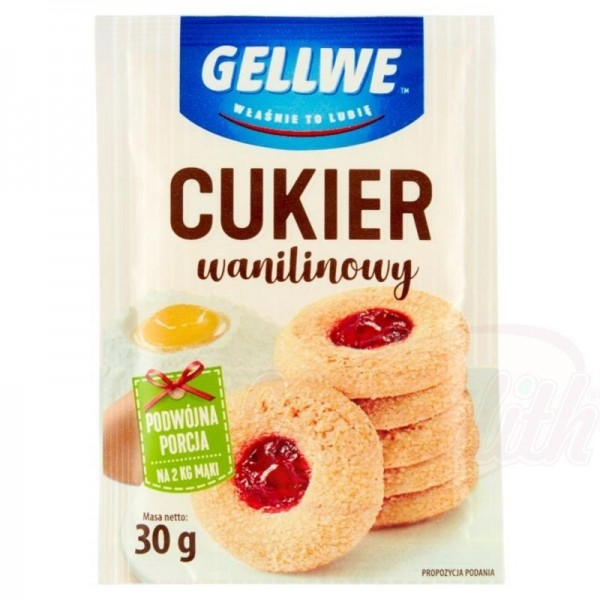 "Azúcar glas polaco de vainilla ""Gellwe"" 30g - Otros"