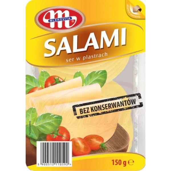 """Queso en lonchas Salami """"Mlekovita"""" 150g - Quesos"""